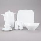 10 Strawberry Street Aurora Square White Porcelain Dinnerware
