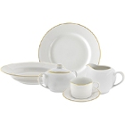 10 Strawberry Street Gold Line Porcelain Dinnerware