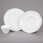 10 Strawberry Street Izabel Lam Ripples Bright White Porcelain Dinnerware