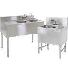 2 Bowl Underbar Sinks