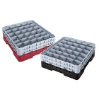 30 Compartment Cambro Glass Racks and Extenders