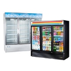 3 Section Glass Door Merchandising Refrigerators
