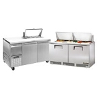 64 inch and 68 inch Commercial Sandwich / Salad Preparation Refrigerators