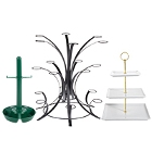 Appetizer Display Stands and Stemmed Dessert Stands