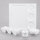 CAC Citysquare Super White Porcelain Dinnerware