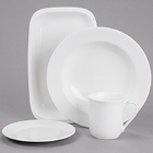 Cardinal Embassy White Porcelain Dinnerware