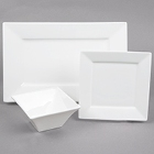 Cardinal Square Up White Porcelain Dinnerware