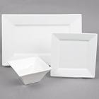 Cardinal Square Up White Porcelain Dinnerware