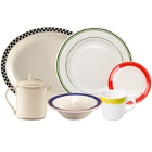 Colored Rim China Dinnerware