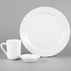 Core Bright White Wide Rim Rolled Edge China Dinnerware