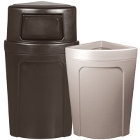 Corner Trash Cans