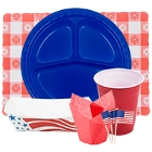 Disposable Patriotic Holiday Party Supplies
