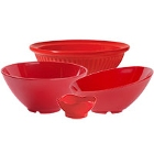 GET Red Sensation Melamine Dinnerware