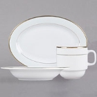 CAC Golden Royal Bright White China Dinnerware