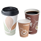 Green Recycled Paper Hot Cups and Lids