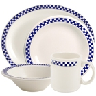 Homer Laughlin Cobalt Checkers China Dinnerware