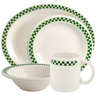 Homer Laughlin Green Checkers China Dinnerware