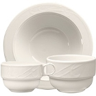 Homer Laughlin Lyrica Ivory (American White) China Dinnerware