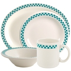 Homer Laughlin Turquoise Checkers China Dinnerware