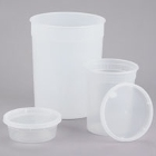 Heavy Weight Hot Microwavable Round Deli Containers