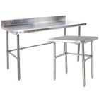 Open Base Commercial Work Tables - 16 Gauge Standard Top