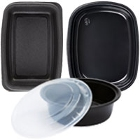 Plastic Microwaveable One Compartment Take-Out Containers