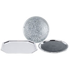 Plated / Galvanized Metal Serving and Display Platters / Trays