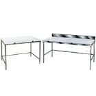 Poly Top Work Tables with Open Base