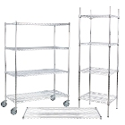 Regency NSF Epoxy Chrome Wire Shelving and Posts