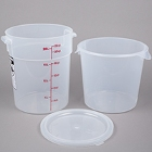 Round, Translucent Food Storage Containers & Lids