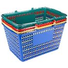 Shopping Baskets, Grocery Carts, and Reusable Shopping Bags