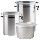 Stainless Steel Food Storage Jars and Ingredient Canisters