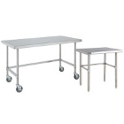 Stainless Steel Open Base Work Tables