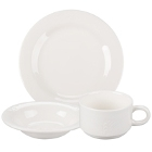 Syracuse China Cafe Royal Royal Rideau Ivory (American White) Porcelain Dinnerware
