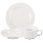 Syracuse China Cafe Royal Royal Rideau White Porcelain Dinnerware