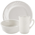Tuxton Monterey Embossed Rim China Dinnerware