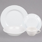 Tuxton Alaska Rolled Edge China Dinnerware