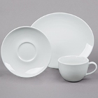 Tuxton Florence Bright White China Dinnerware