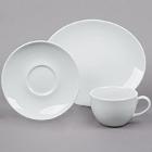 Tuxton Florence Bright White China Dinnerware