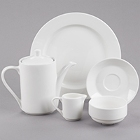 Tuxton AlumaTux Modena Bone White China Dinnerware