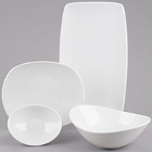 Tuxton AlumaTux Napa Bone White China Dinnerware