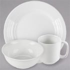 Tuxton Pacifica Embossed Rim Bright White China Dinnerware