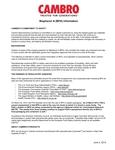 Cambro BPA Information