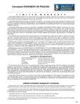 Cleveland Range's Warranty Information