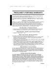 ProTeam ProGuard 4 Warranty