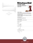 KitchenAid 519SSA Spec Sheet