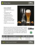 Libbey Wheat Beer Specs