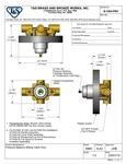 T&S B-3304-PBV Spec Sheet