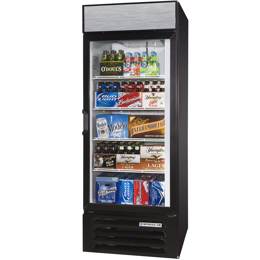beverage air lv b led black lumavue refrigerated glass main picture image preview