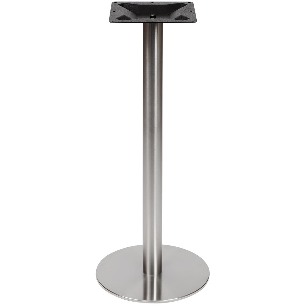 Round Stainless Base Coffee Height Tables: BFM Seating PHTB18RSST Elite Bar Height Outdoor / Indoor